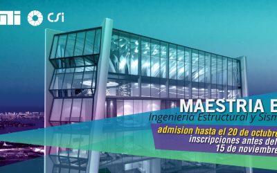 ll Lanzamiento Maestría en Ingeniería Estructural y Sísmica