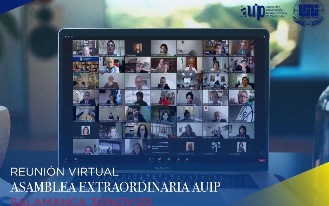 Asamblea Extraordinaria  Salamanca 30 de Noviembre 2020