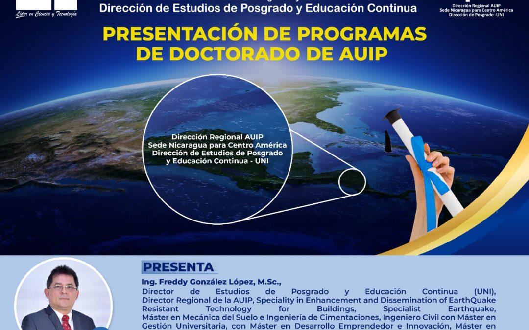 OFERTA DE PROGRAMAS DE DOCTORADO COOPERATIVOS CON AYUDA DE AUIP